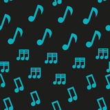 Musical Notes Seamless Pattern Stock Photo