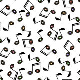 Musical Notes Seamless Pattern Royalty Free Stock Photography
