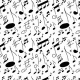 Musical notes seamless texture Stock Photos