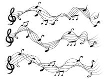Musical notes set Royalty Free Stock Images