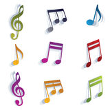 Musical notes set. Royalty Free Stock Photography