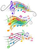 Musical notes Stock Images