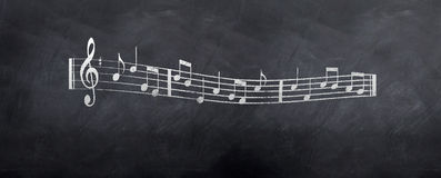 Musical Notes Sheet Style Stock Photo