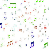 Musical Notes Shows Music Audio Sound Or Entertainment Royalty Free Stock Images