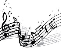 Musical notes staff Stock Image
