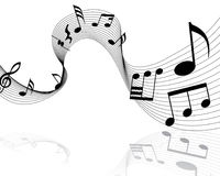 Musical notes staff Royalty Free Stock Photography