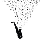 Musical notes staff Stock Photography
