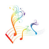 Musical notes staff background Royalty Free Stock Photo