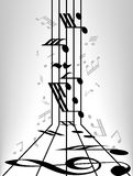 Musical notes staff background Royalty Free Stock Photography