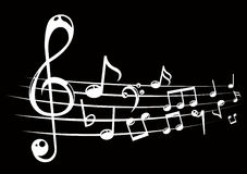 Musical notes staff background with lines. Stock Image