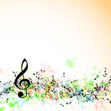 Musical notes staff background. Royalty Free Stock Images