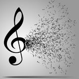 Musical notes staff background. Stock Photography