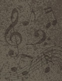 Musical Notes on Textured Background Illustration Royalty Free Stock Photos