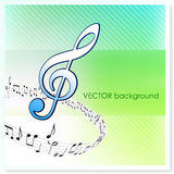 Musical Notes on Vector Background Royalty Free Stock Photo