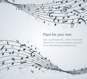 Musical notes. Vector background with space for your text Royalty Free Stock Images