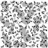 Musical notes and violins seamless. Seamless with musical notes and violins Royalty Free Stock Photo