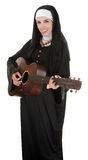 Musical Nun Royalty Free Stock Photography