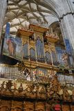 Musical organ cathedral Salamanca royalty free stock image