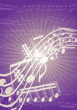 Musical page. Background with music note elements Stock Photography