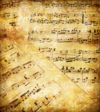 Musical papers Royalty Free Stock Photo