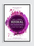 Musical Party Template, Banner or Flyer design. Abstract design decorated, Musical Party Template, Dance Party Flyer, Night Party Banner or Club Invitation Card vector illustration