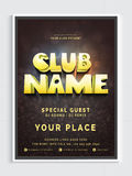 Musical Party Template, Banner or Flyer design. Musical Party Template, Dance Party Flyer, Night Party Banner or Club Invitation Card design with details vector illustration