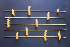 Musical pasta royalty free stock photography
