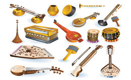 Musical and percussion instruments Royalty Free Stock Image