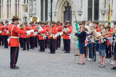 Musical performance in Bruges Stock Photo
