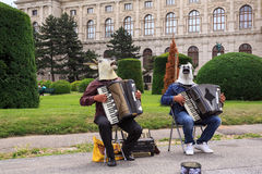 Musical performance near the Museum of Fine Arts. Stock Image