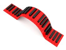 Musical Piano keys Stock Photos