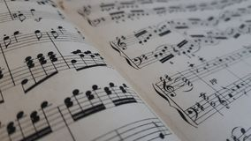 Musical notes. Musical piano notes stock images