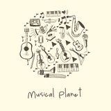 Musical planet Royalty Free Stock Images