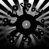 Musical plate background Stock Photography