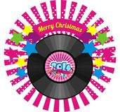 Musical plate with new year Royalty Free Stock Image