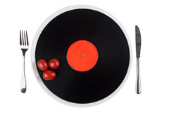 Musical plate on a plate Royalty Free Stock Photos