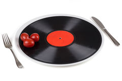 Musical plate on a plate Stock Photos