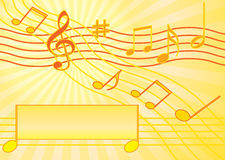 Musical postcard. Abstract musical background: postcard  illustration Royalty Free Stock Photos