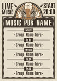 Musical pub Royalty Free Stock Images