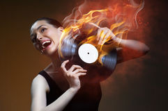 Musical record Royalty Free Stock Photography