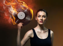 Musical record Royalty Free Stock Photo