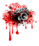 Musical Red LIquid Drops Frame Royalty Free Stock Photography