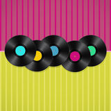 Musical retro background Stock Photos