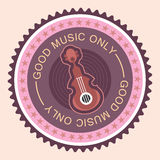 Musical round label Stock Image