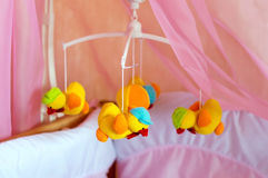 Musical roundabout with soft toys, mobile Royalty Free Stock Photography