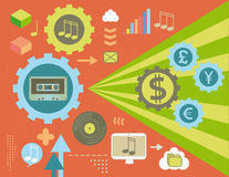 Musical royalties concept Stock Photos
