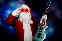 Musical Santa Stock Photo