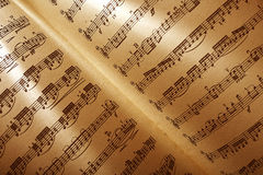 Musical score Stock Image