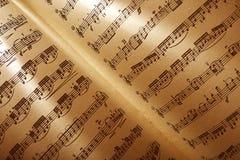 Musical score stock image