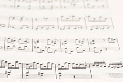 Musical score Stock Photo
